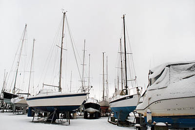 Photograph - Snow Boats by Terence Davis