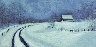 Old Barn Painting - Snow Bound by Garry McMichael