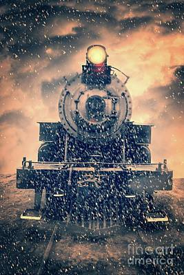 Photograph - Snow Bound Steam Train by Edward Fielding