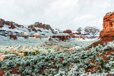 Boynton Canyon Photograph - Snow Boynton 05-062 by Scott McAllister