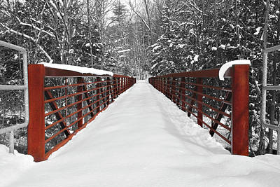 Photograph - Snow Bridge by Greg Fortier