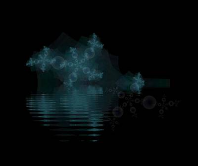 Digital Art - Snow Bubbles by Bill Posner