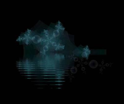 Digital Art - Snow Bubbles by Bill Posner