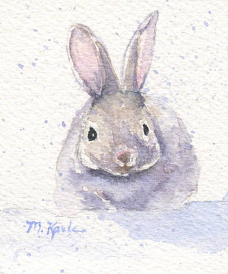 Painting - Snow Bunny by Marsha Karle