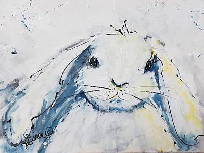 Painting - Snow  Bunny by Terri Einer