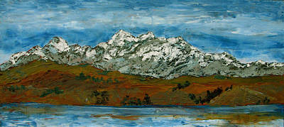 Painting - Snow Capped - Bolivia by Libby  Cagle