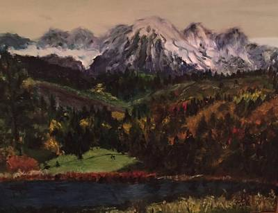 Painting - Snow Caped Mountain by Lucille Valentino