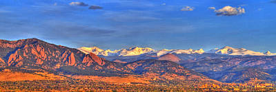 Cu Boulder Photograph - Snow-capped Panorama Of The Rockies by Scott Mahon