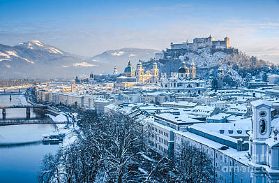 Photograph - Snow-capped Roofs Of Salzburg by JR Photography
