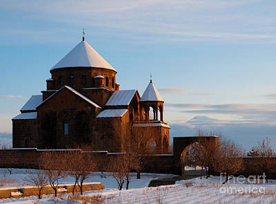 Photograph - Snow Capped St. Hripsipe Church At Winter, Armenia by Gurgen Bakhshetsyan