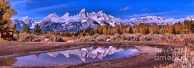 Photograph - Snow Caps In The Snow Melt Panorama by Adam Jewell
