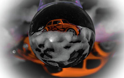 Photograph - Snow Car In A Ball by Perggals - Stacey Turner