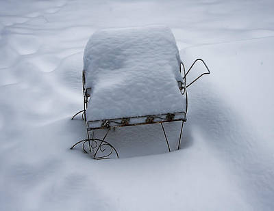 Photograph - Snow Cart Img_2658 by Torrey E Smith