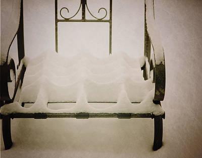 Snow Chair Art Print