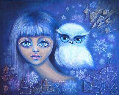 Painting - Snow Children by Agata Lindquist