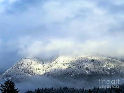 Photograph - Snow Clouds In The Mountains 2 by Victor K