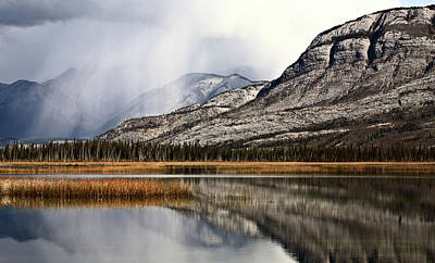 Santas Reindeers Royalty Free Images - Snow Clouds in the Rocky Mountains of Alberta Royalty-Free Image by Mark Duffy
