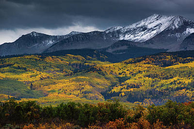 Photograph - Snow Clouds Over Kebler Pass by John De Bord