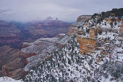 Photograph - Snow Comes To The Canyon by Dennis Reagan