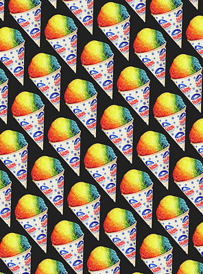 Summer Fun Digital Art - Snow Cone Pattern by Kelly Gilleran