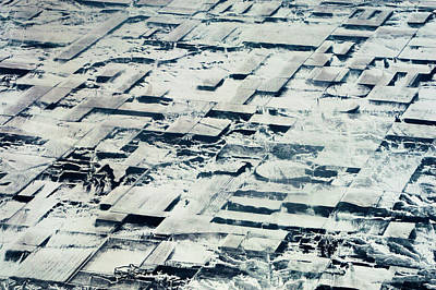 Photograph - Snow Covered Aerial View by Mike Shaw