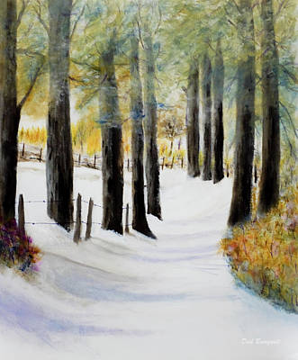 Painting - Snow Covered Country Lane by Dick Bourgault