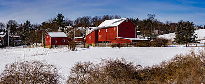 Photograph - Snow Covered Farm House by Mark Robert Rogers