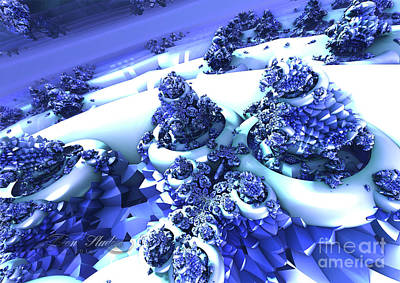 Digital Art - Snow Covered Fractal by Melissa Messick
