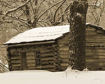 Snow Covered Gardner Cabin Art Print