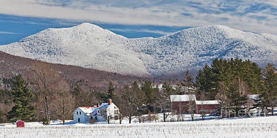 Photograph - Snow Covered Green Mountains Panorama by Alan L Graham