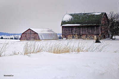 Photograph - Snow Covered Half Barns by LeeAnn McLaneGoetz McLaneGoetzStudioLLCcom