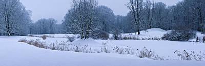 Photograph - Snow Covered Landscape Park by Sun Travels