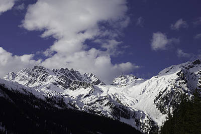 Photograph - Snow Covered Mountains by Donna Munro