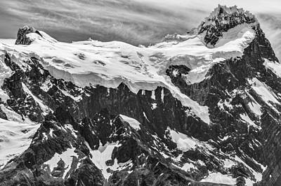 South America Mixed Media - Snow Covered Mountains - Patagonia Photograph by Duane Miller