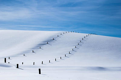 Photograph - Snow Covered Pasture by Sean Allen
