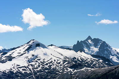 Photograph - Snow-covered Peaks In North Cascades by Serge Skiba