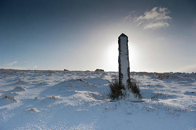 Photograph - Snow Covered Post II by Helen Northcott