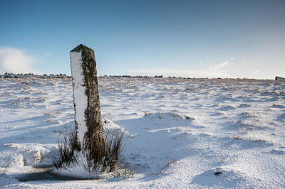 Sean Rights Managed Images - Snow Covered Post iii Royalty-Free Image by Helen Northcott
