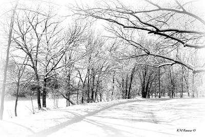 Photograph - Snow Covered River Road by Kathy M Krause