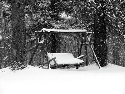 Snow Covered Swing B Print by John Myers