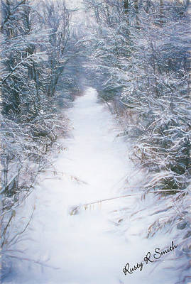 Digital Art - Snow Covered Trail. by Rusty R Smith