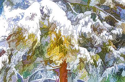 Snow-covered Tree Branch 1 Art Print