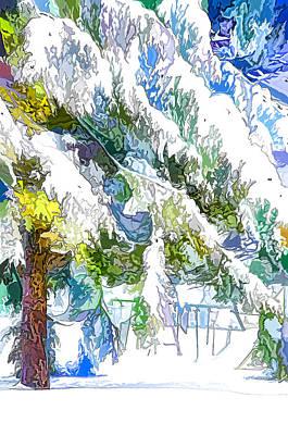 Snow-covered Tree Branch  3 Art Print