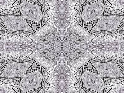 Photograph - Snow Covered Trees Kaleidoscope Mandala Abstract 1 by Rose Santuci-Sofranko