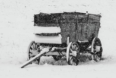 Photograph - Snow Covered Wagon by Athena Mckinzie