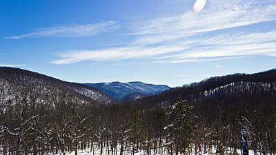 Photograph - Snow Covered Wv Mountains by Jonny D