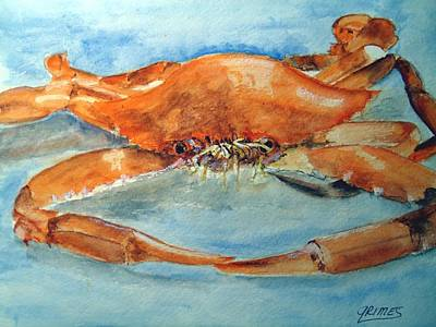 Painting - Snow Crab Is Ready by Carol Grimes