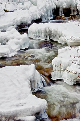 Photograph - Snow Creek by Albert Seger
