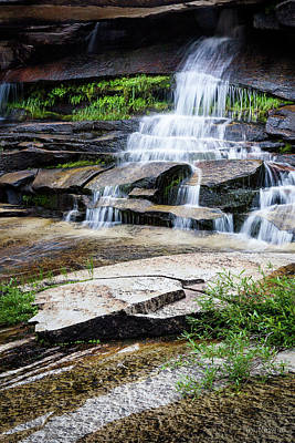 Photograph - Snow Creek Cascade by Tim Newton