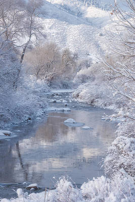 Snowscape Photograph - Snow Creek by Darren White